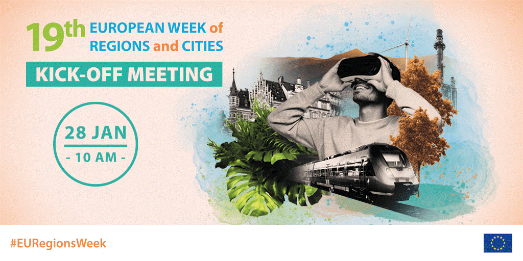 """""""The European Week of Regions and Cities 2021 is launched"""". The deadline for application is 26 March 2021!"""